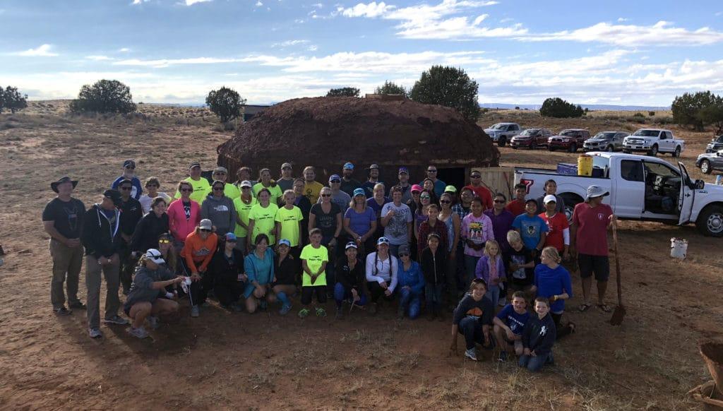 Navajo Hogan Service Project 187 Vacation Races