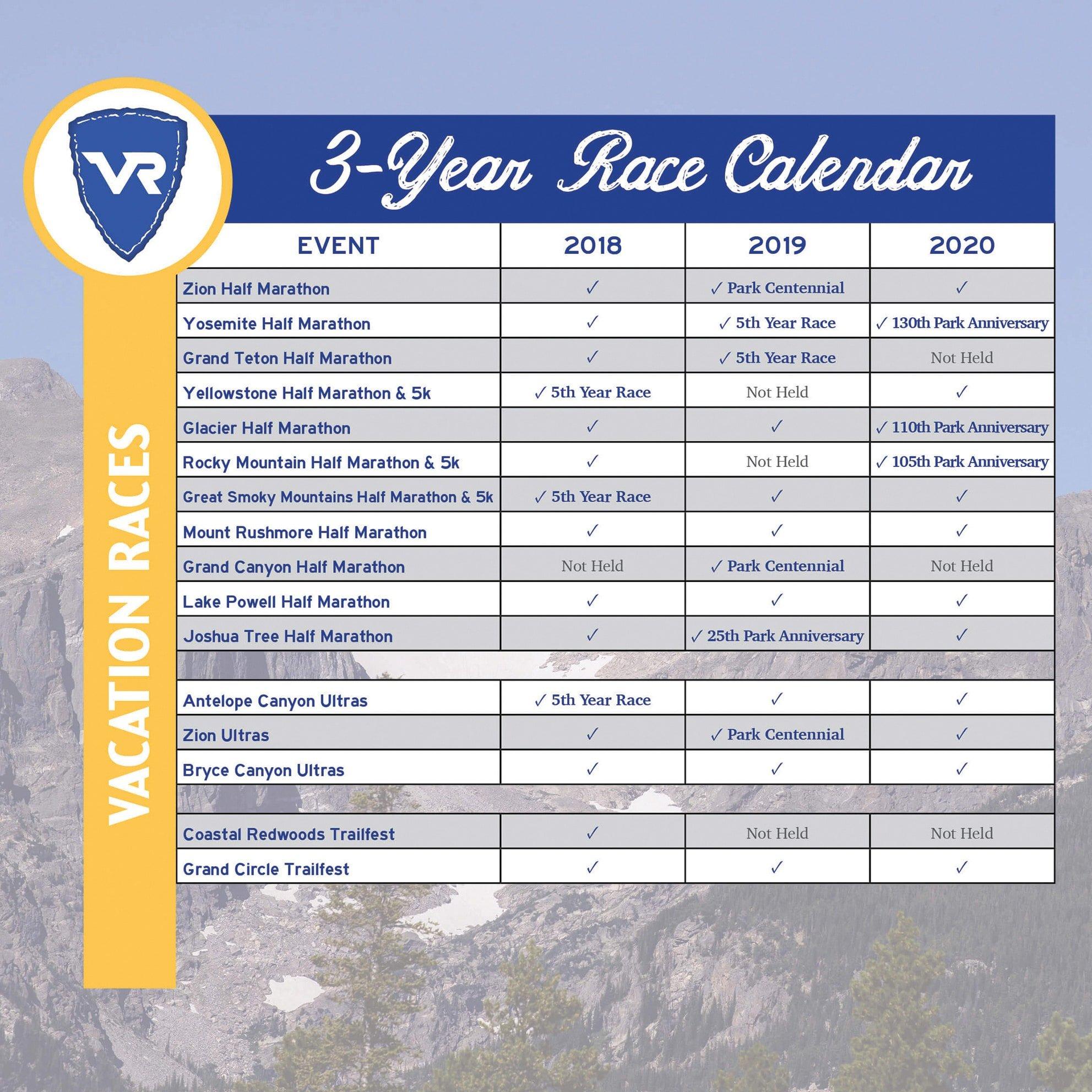 Race Calendar.Rotating Race Schedules Extended Calendar And New Race Logos