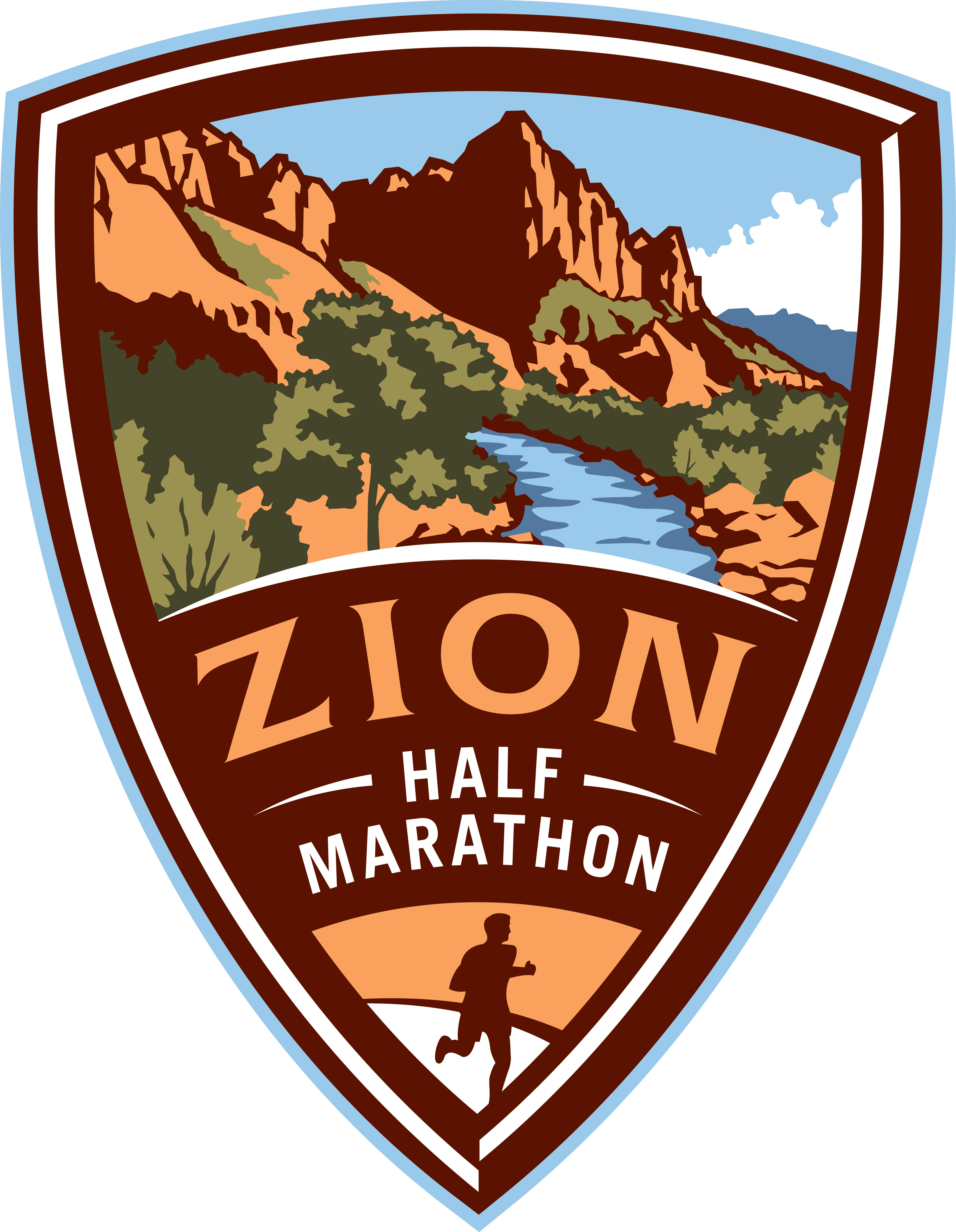 Zion Half Marathon logo